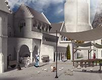 Minas Tirith concept - Market Day