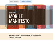 Domain7 Mobile Manifesto