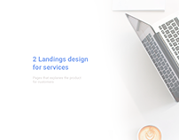 Landing page design for services