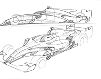 F1 concept Freehand sketch