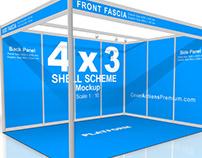 Shell Scheme Booth Mockup