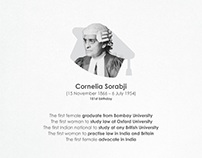 Cornelia Sorabji first female advocate in India