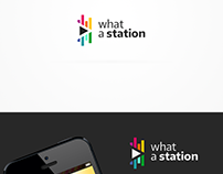 What a Station logo and Website design