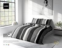 Double Bed Bedding Mockup Set