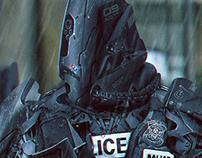 Futuristic Police Robot Concept