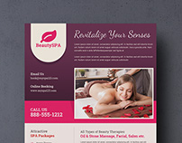 Spa, Salon and Travel Marketing Flyer