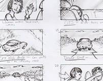 """You Can't Text and Drive"" Storyboards (PSA)"