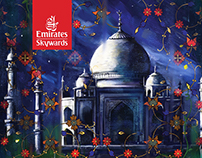 Painting for Emirates gold card