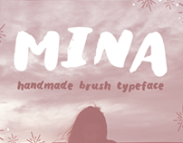 """Mina"" Brush Typeface (FREE)"