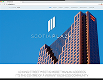 Scotia Plaza Website & Sales Collateral