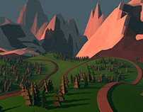 Lowpolygons Mountains