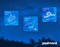 Stamp design - Winter skies