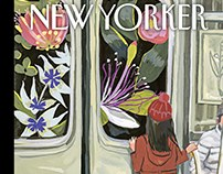 Next Stop: Spring. New Yorker Magazine Cover