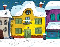 Illustration Advent street