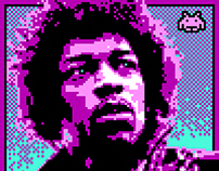 8-Bit Jimi Hendrix Triubte Artwork