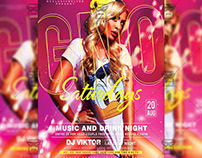GNO Saturdays - Club A5 Template
