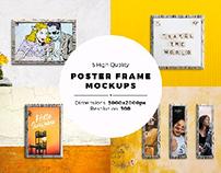 Poster Frame Mock-ups [5 Psd files]