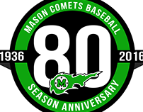 Mason Baseball 80th Season Logo