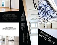 Gibney Dance Rentals Tri-fold Brochure
