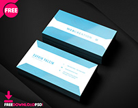 Clean Modern Business Card PSD Template