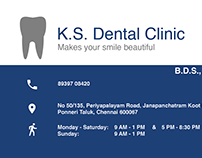 Dental Clinic - Business Card Design