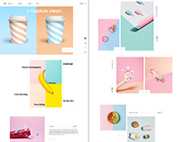 Website UI Design - Minimalistic Product Photography