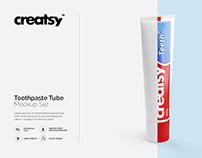 Toothpaste Tube Mockup Set
