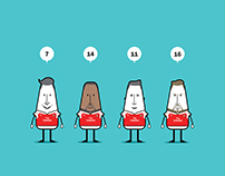 Arsenal players' character design