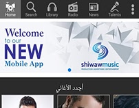Shiwaw Music mobile application