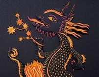 Paper Sculpture Dragon