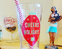 "KenndyC ""Cheers to the Ad Life"" Holiday Invite"