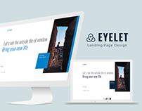 WIP: Eyelet Creative Landing Page Design