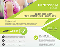 Fitness Services - Free PSD Flyer Template