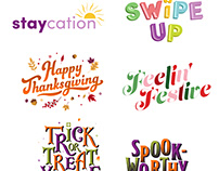 Typographic Giphy Stickers