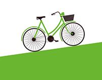 bicycle illustration - brochure