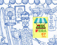IFEIRA - Ilustração para cartaz de  evento acadêmico.