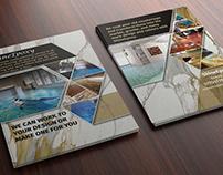 Graphic design of leaflets
