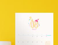 Seasonal Calendar Design with REIS font