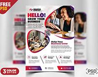 Print Ready Corporate Flyer Design PSD