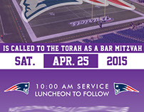 Patriots Bar Mitzvah Invitation