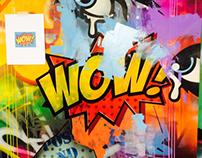 Boom astracto graffiti