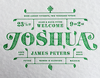 Joshua's Birth Announcement