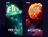 DENA游戏发布会现场主视觉海报