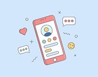 Illustration • Phone   Иллюстрация • Телефон