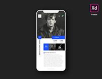 User Profile UI - Freebie for Adobe XD