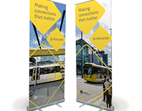 Metrolink pull-up banners