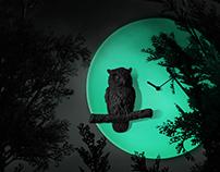 Moon X Clock