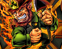 Fireman Leprechaun on Maltese Cross