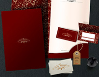 logo, business card folder, and for the wine companies