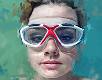portrait with goggles